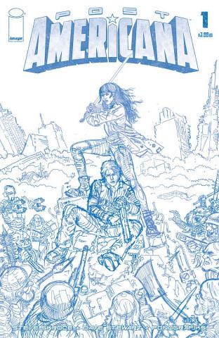 Post Americana #1 (50 Copy Skroce Blueline Cover)