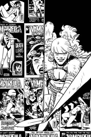 Vampirella / Red Sonja #2 (21 Copy Romero Bellaire B&W Virgin Cover)