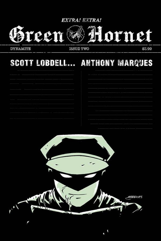 Green Hornet #2 (Marques Cover)