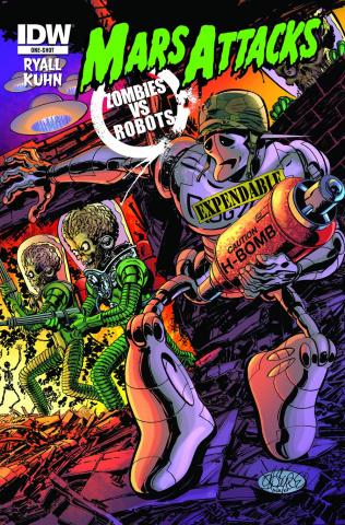 Mars Attacks Zombies vs. Robots (Variant Cover)
