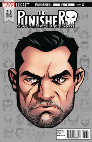 The Punisher #218 (McKone Legacy Headshot Cover)