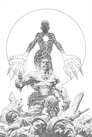 Bloodshot: Reborn #14 (50 Copy B&W Sketch Giorello Cover)
