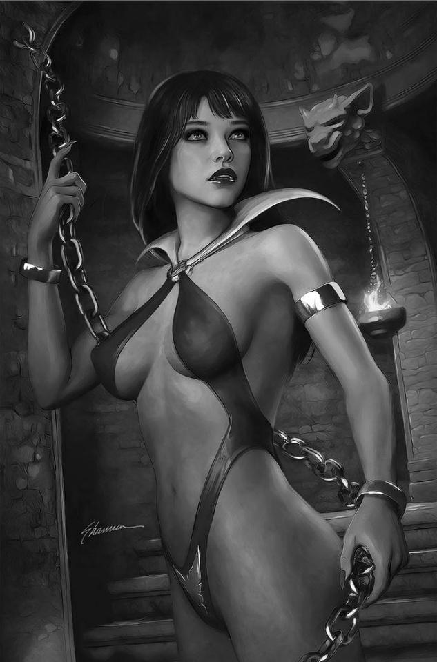 Vampirella #24 (21 Copy Maer B&W Virgin Cover)