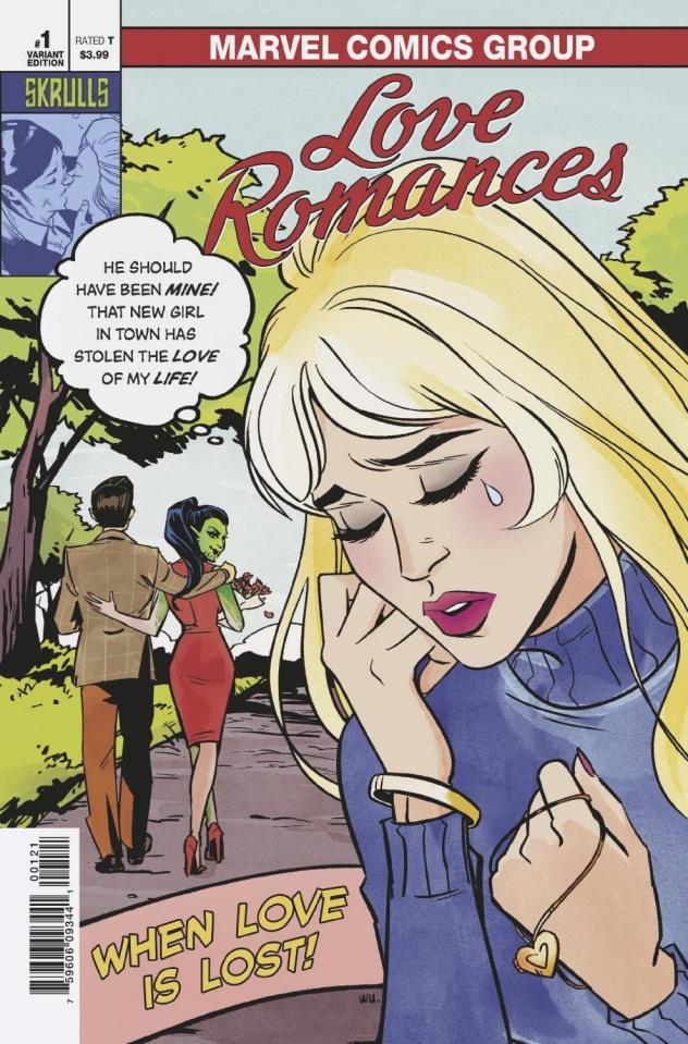 Love Romances #1 (Annie Wu Skrulls Cover)