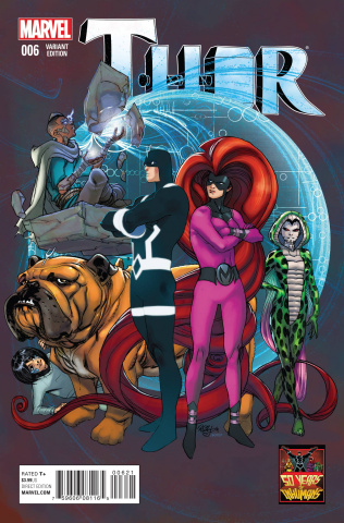 Thor #6 (Inhuman 50th Anniversary Ferry Cover)