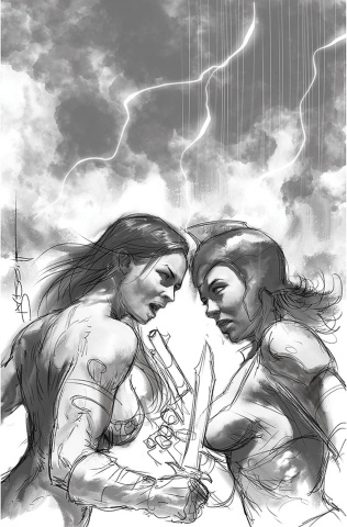Red Sonja: The Superpowers #2 (50 Copy Parrillo B&W Virgin Cover)