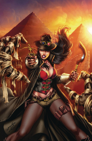 Grimm Fairy Tales: Van Helsing vs. The Mummy of Amun Ra #3 (Luis Cover)