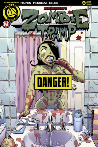 Zombie Tramp #32 (Winston Young Risque Cover)