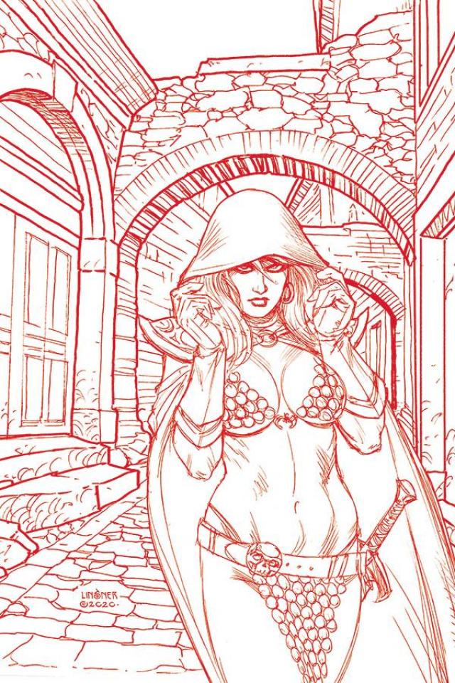 Red Sonja #21 (30 Copy Linsner Tint Virgin Cover)