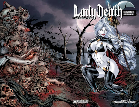 Lady Death: Apocalypse #5 (Wrap Cover)