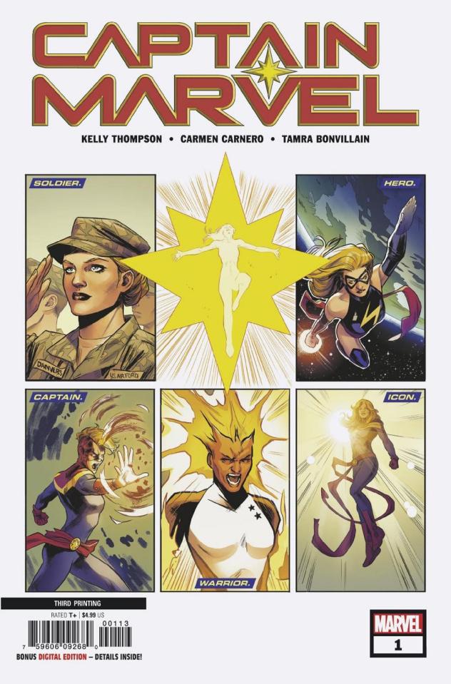 Captain Marvel #1 (Camero 3rd Printing)