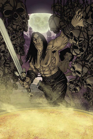 The Cimmerian: The Man-Eaters of Zamboula #1 (Gess Cover)