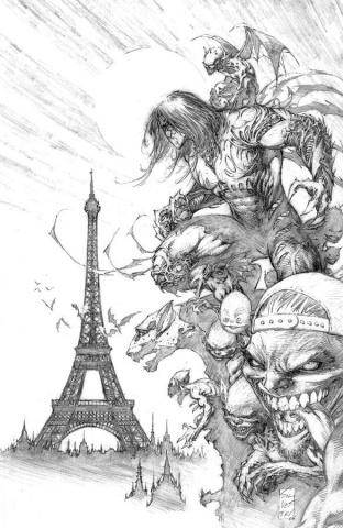 The Darkness #114 (Silvestri Black & White Cover)