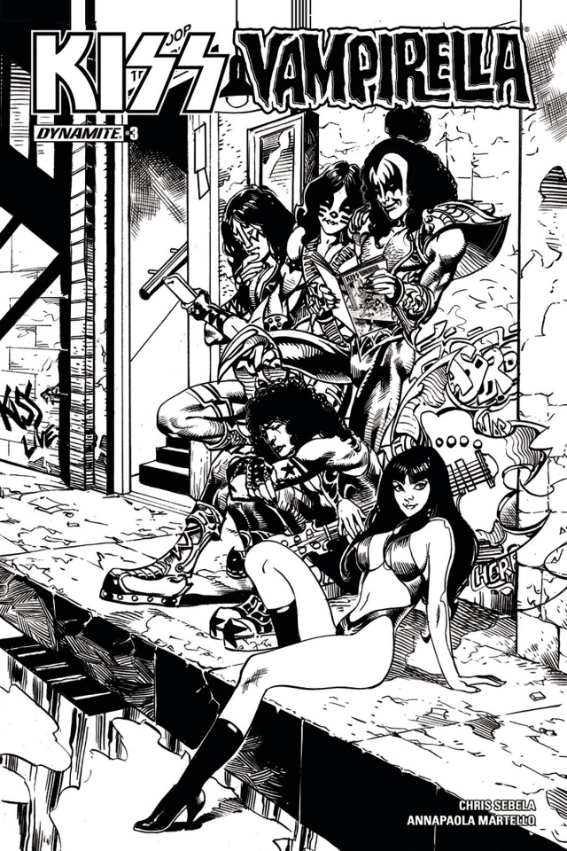 KISS / Vampirella #3 (25 Copy Castro B&W Cover)