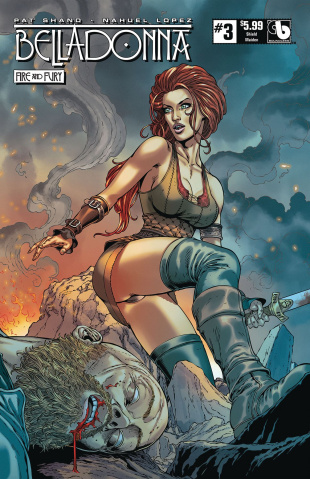 Belladonna: Fire and Fury #3 (Shield Maiden Cover)
