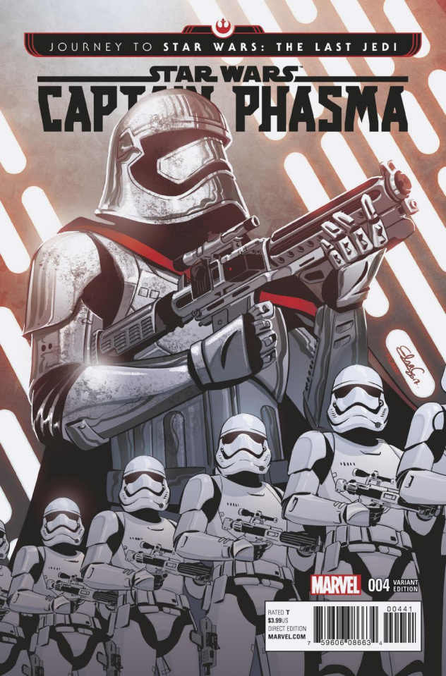 Journey to Star Wars: The Last Jedi - Captain Phasma #4 (Charretier Cover)