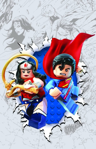 Superman / Wonder Woman #13 (Lego Cover)