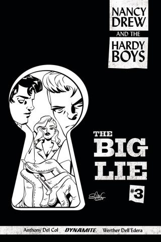 Nancy Drew and The Hardy Boys #3 (10 Copy Charretier B&W Cover)