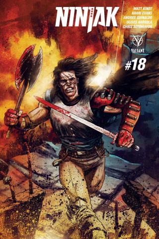 Ninjak #18 (10 Copy Interlock Gorham Cover)