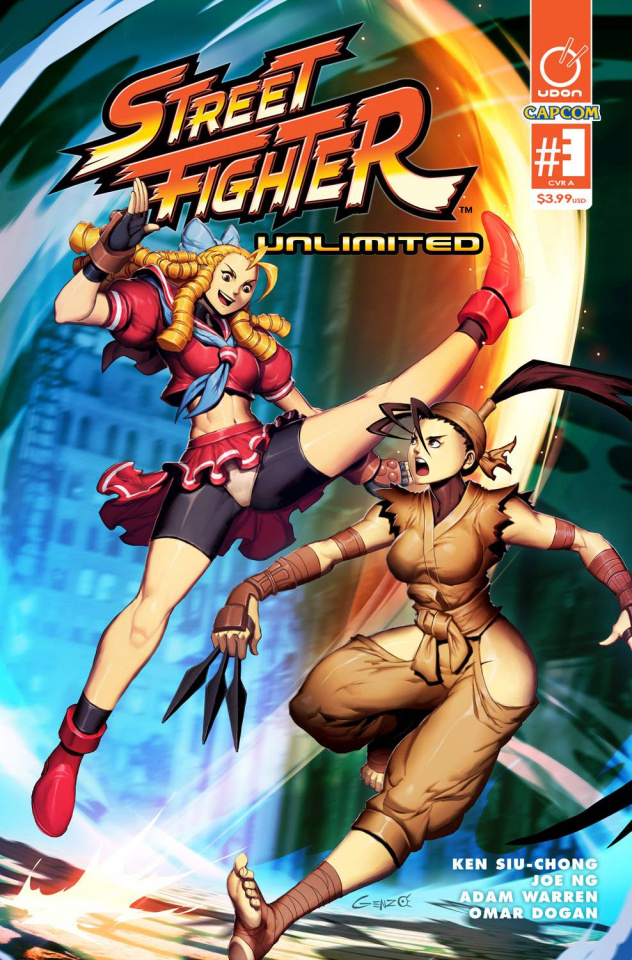 Street Fighter Unlimited #3 (Genzoman Story Cover)