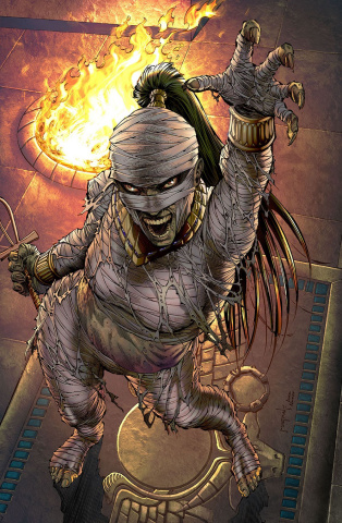 Grimm Fairy Tales: Van Helsing vs. The Mummy of Amun Ra #5 (Metcalf Cover)