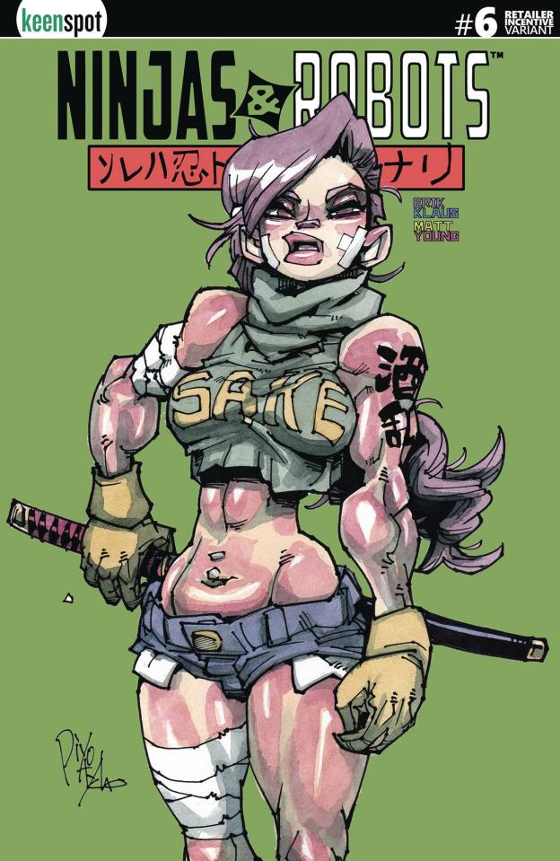 Ninjas & Robots #6 (5 Copy Klaus Cover)