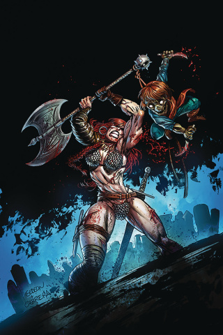 Killing Red Sonja #1 (Gideon Virgin Gedeon Zombie Cover)