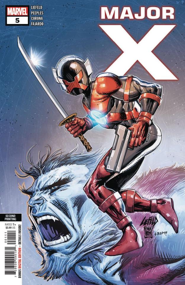 Major X #5 (Liefeld 2nd Printing)