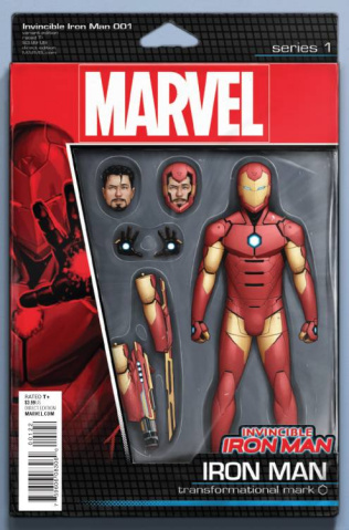 Invincible Iron Man #1 (Action Figure Cover)