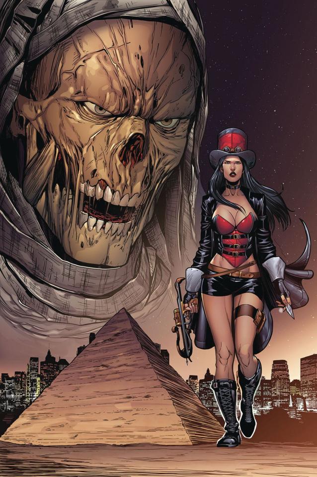 Grimm Fairy Tales: Van Helsing vs. The Mummy of Amun Ra #3 (Rose Cover)