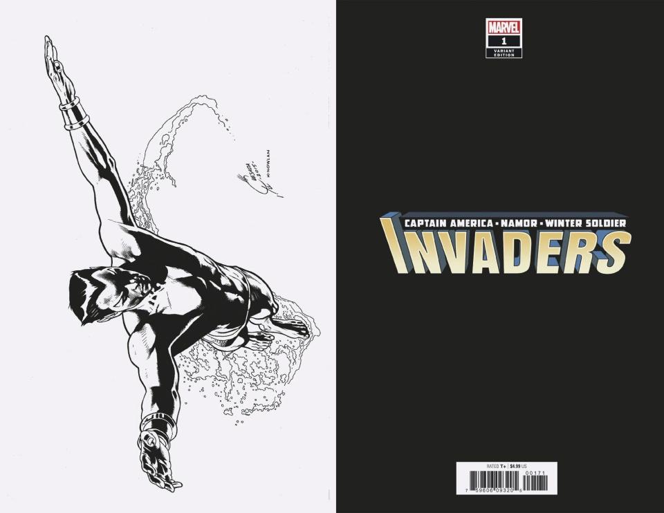 Invaders #1 (Quesada B&W Virgin Cover)