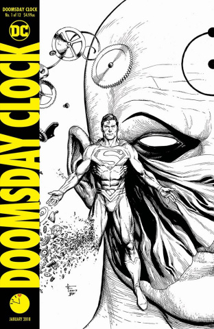 Doomsday Clock #1 (11:57 PM Release Variant Cover)