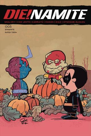 DIE!namite #3 (Peanuts Homage Cover)