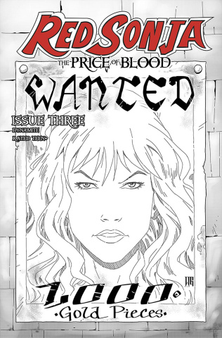 Red Sonja: The Price of Blood #3 (15 Copy Geovani B&W Cover)