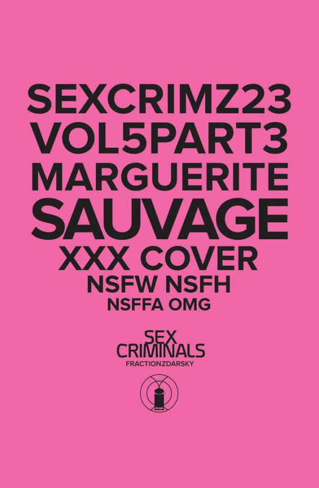 Sex Criminals #23 (XXX Marguerite Sauvage Cover)