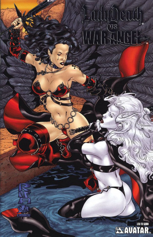 Lady Death vs. War Angel (Platinum Foil Cover)