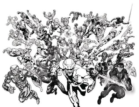 X-O Manowar #50 (50 Copy B&W All-Star Jam Cover)