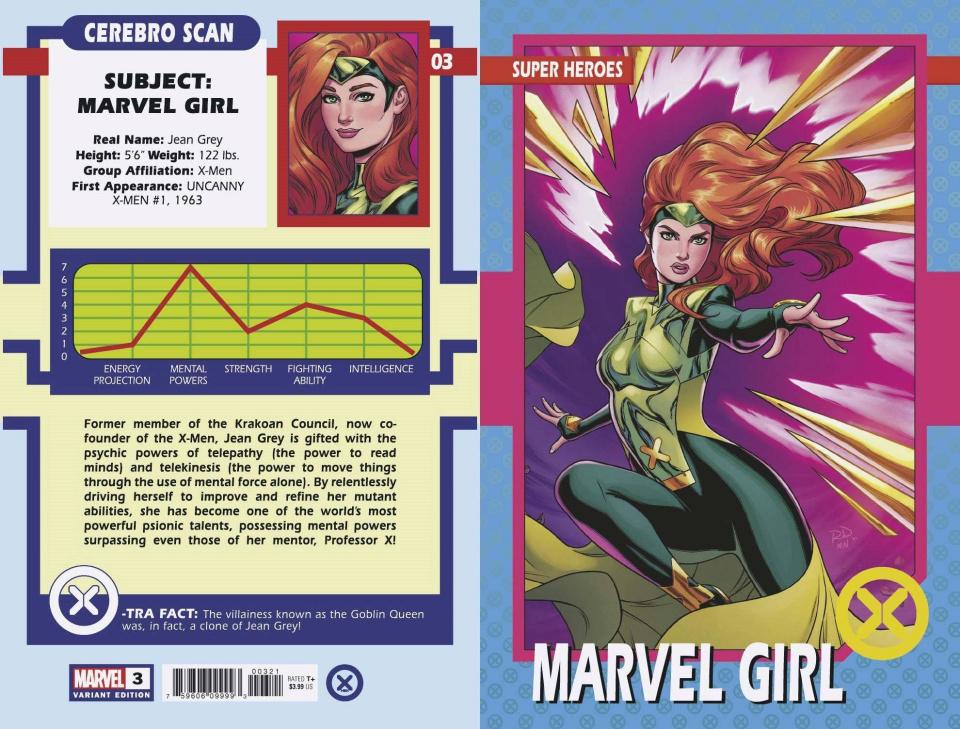 X-Men #3 (Dauterman Trading Card Cover)