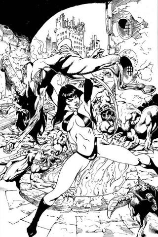 Vengeance of Vampirella #6 (15 Copy Castro B&W Virgin Cover)