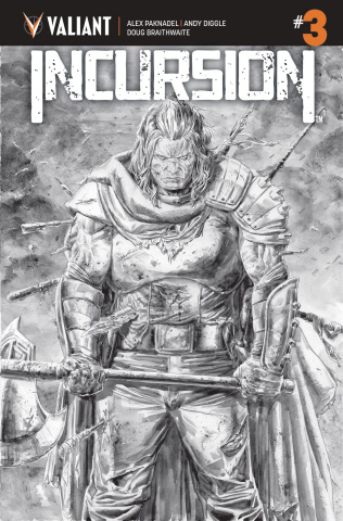 Incursion #3 (B&W Braithwaite Cover)