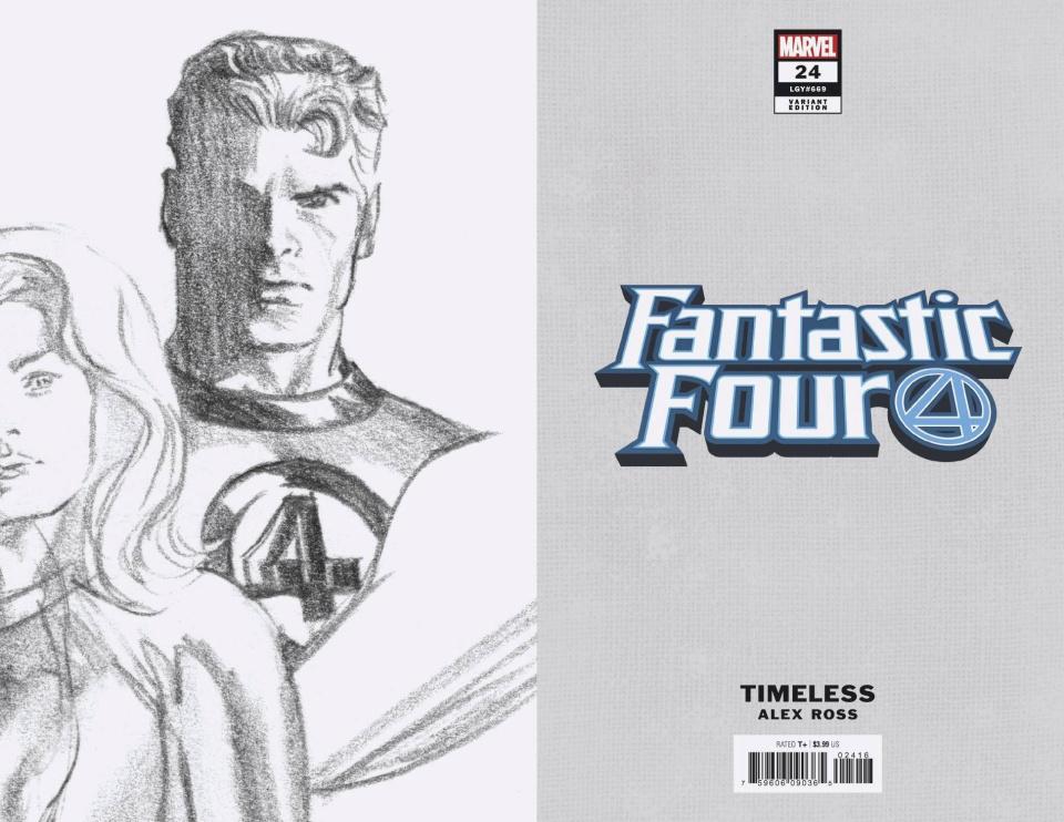 Fantastic Four #24 (Mr. Fantastic Timeless Virgin Sketch Cover)
