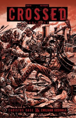Crossed: Badlands #99 (Red Crossed Cover)