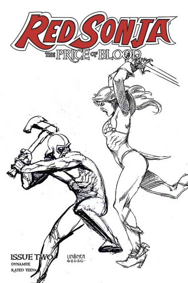 Red Sonja: The Price of Blood #2 (30 Copy Linsner B&W Cover)