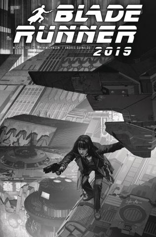 Blade Runner 2019 #9 (Edwards B&W Cover)