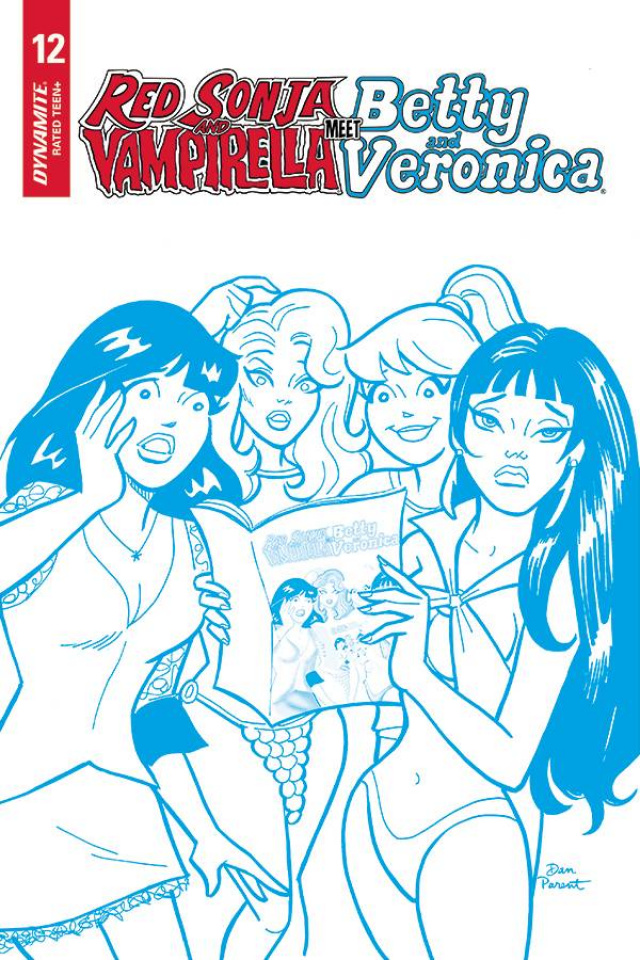 Red Sonja and Vampirella Meet Betty and Veronica #12 (21 Copy Parent Blue Cover)