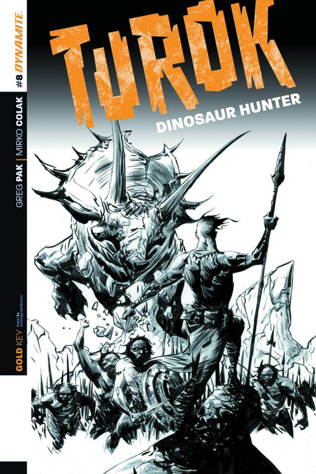 Turok: Dinosaur Hunter #8 (25 Copy Lee B&W Cover)