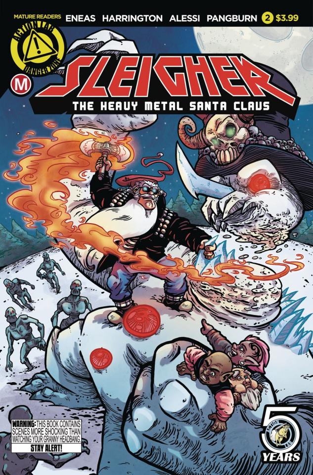 Sleigher: The Heavy Metal Santa Claus #2 (Eneas Cover)