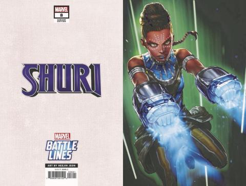 Shuri #8 (Heejin Jeon Marvel Battle Lines Cover)