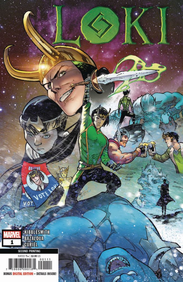 Loki #1 (Bazaldua 2nd Printing)