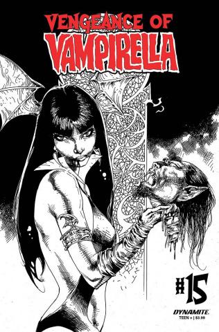 Vengeance of Vampirella #15 (11 Copy Castro B&W Cover)